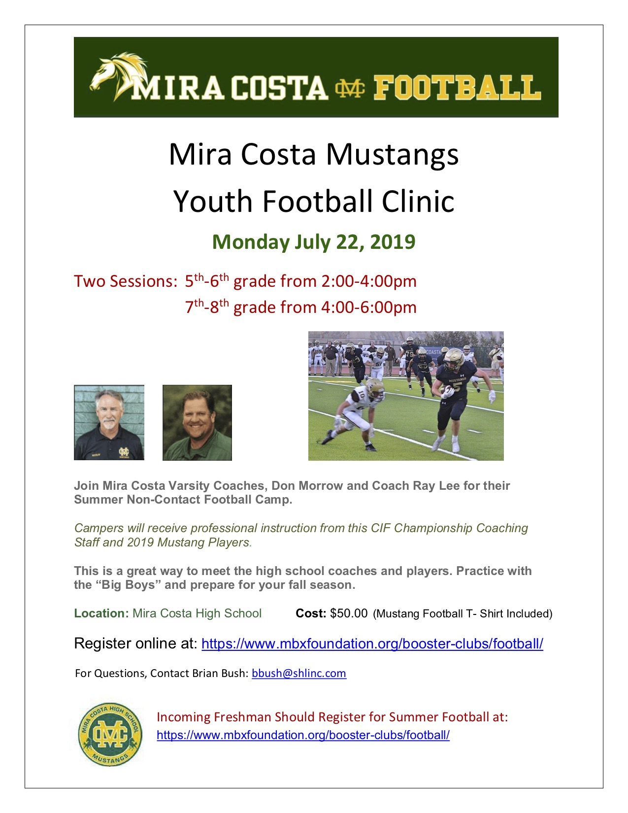 MC Mustangs Youth Football Clinic copy - MBX Foundation